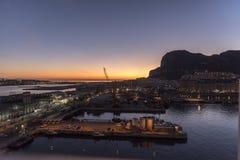 Soluppgång över Gibraltar Fotografering för Bildbyråer