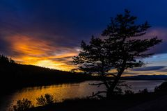 Soluppgång över Hauser Fotografering för Bildbyråer