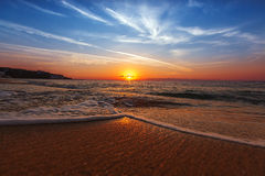Soluppgång över havet Royaltyfri Bild