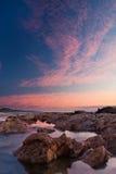 Soluppgång över havet med sun'sens reflexion Royaltyfri Foto