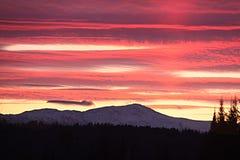 Soluppgång över monteringen Washington Fotografering för Bildbyråer