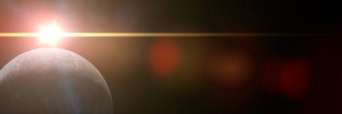 Soluppgång över planeten Mercury Royaltyfri Foto