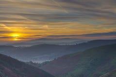 Soluppgång över Shropshire Royaltyfria Bilder
