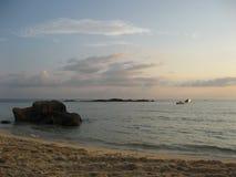 Soluppgång över sydkinesiska havet Arkivbild