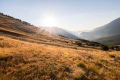 Soluppgång överst av berget Campa överst av berget Royaltyfri Foto