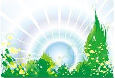 soluppgång Vektor Illustrationer