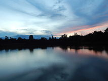 Soluppgång Angkor Wat Royaltyfri Fotografi