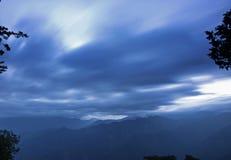 Soluppgång av Ali Mountain (Ali Shan, Taiwan) Arkivbild
