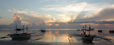 Soluppgång Boracay Arkivfoton