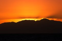 soluppgång för 2 orange Royaltyfria Foton