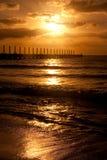 soluppgång för carmendelmexico playa fotografering för bildbyråer