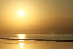 soluppgång för dött hav Royaltyfria Foton