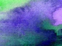 Soluppgång för himmel för abstrakt begrepp för vattenfärgkonstbakgrund texturerade suddig fantasi för våt wash Royaltyfri Foto