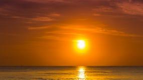 Soluppgång för karibiskt hav Fotografering för Bildbyråer