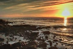 soluppgång för moreton för fjärdbrisbane hdr Arkivbild