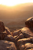 soluppgång för mt sinai Arkivbild