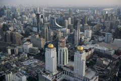 SOLUPPGÅNG FÖR THAILAND BANGKOK STADSHORISONT royaltyfri fotografi