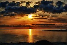 soluppgång för uddgrekohdr Royaltyfri Bild