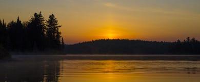 Soluppgång från Qubec Arkivfoto