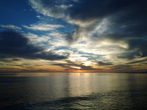 Soluppgång i Baja California Royaltyfria Bilder