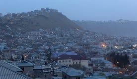 Soluppgång i Baku Arkivfoto