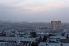 Soluppgång i Baku Royaltyfria Bilder