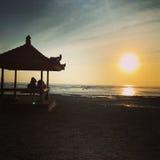 Soluppgång i Bali Indonesien Arkivbild