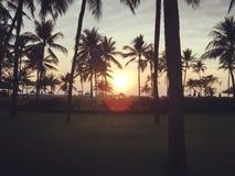 Soluppgång i Bali Indonesien Fotografering för Bildbyråer