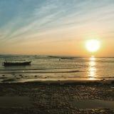 Soluppgång i Bali Indonesien Arkivbilder