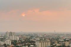Soluppgång i Bangkok Thailand Arkivfoto