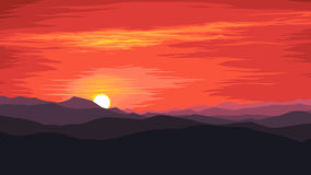 Soluppgång i bergen Royaltyfri Bild