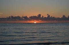 Soluppgång i Caraibes Royaltyfri Fotografi