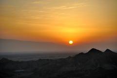 Soluppgång i danxialandform Royaltyfri Bild