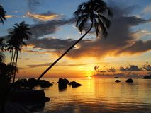 Soluppgång i den bintan ön Royaltyfria Bilder