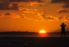 Soluppgång i det karibiskt fotografering för bildbyråer