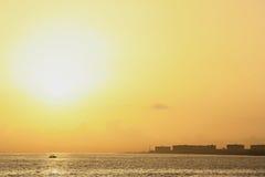 Soluppgång i havannacigarr Arkivbild