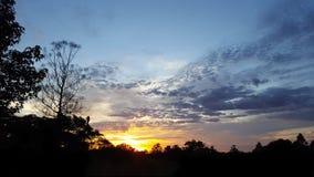 Soluppgång i Hillcrest Arkivfoto