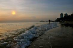 Soluppgång i Huahin Royaltyfri Bild