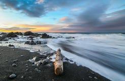 Soluppgång i Island Arkivbilder