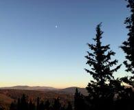 Soluppgång i Italien, Fiesole Landskap till Florence royaltyfria bilder