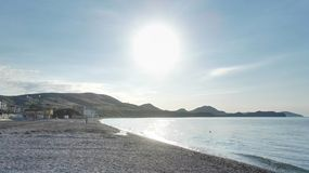 Soluppgång i koktebel Black Sea arkivfoton