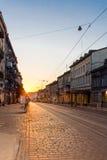 Soluppgång i Lviv Royaltyfria Bilder