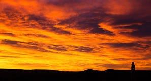 Soluppgång i Marocko Arkivbilder