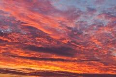 Soluppgång i morgonen Arkivbilder