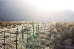 Soluppgång i pueblo Arkivbild
