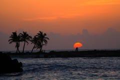 Soluppgång i Riviera Maya Royaltyfria Foton