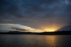 Soluppgång i Solomon Islands arkivfoto