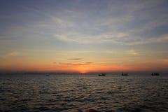 Soluppgång i Thailand Arkivfoton