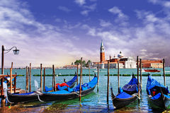 Soluppgång i Venedig Royaltyfri Bild