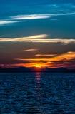 Soluppgång izmir. Arkivbilder